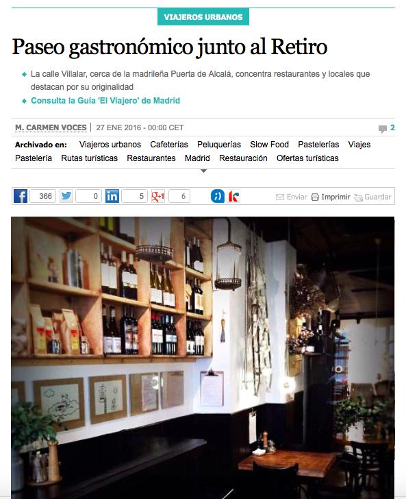 El País Paseo Gastronómico