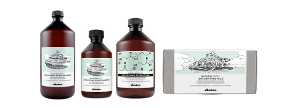 Tratamiento capilar de Davines Natural Tech a base de ingredientes naturales para pieles atónicas que necesitan desintoxicarse de impurezas ambientales.