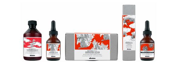 Tratamiento capilar Energizing de Davines Natural Tech a base de ingredientes naturales para cabellos frágiles con tendencia a la caída, estimulando la microcirculación