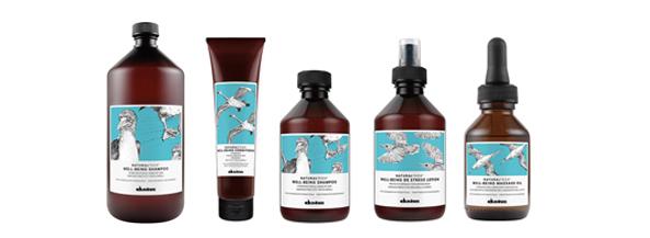 Tratamiento capilar de Davines Natural Tech a base de ingredientes naturales para todo tipo de cabellos estresados. Una línea hidratante para uso frecuente.