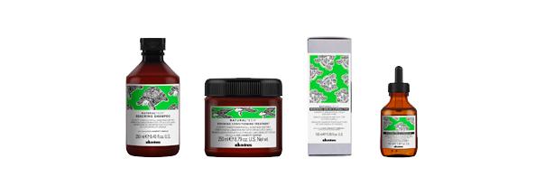 Tratamiento capilar de Davines Natural Tech, a base de ingredientes naturales para la prevención del envejecimiento del cabello prolongando el estado de bienestar.