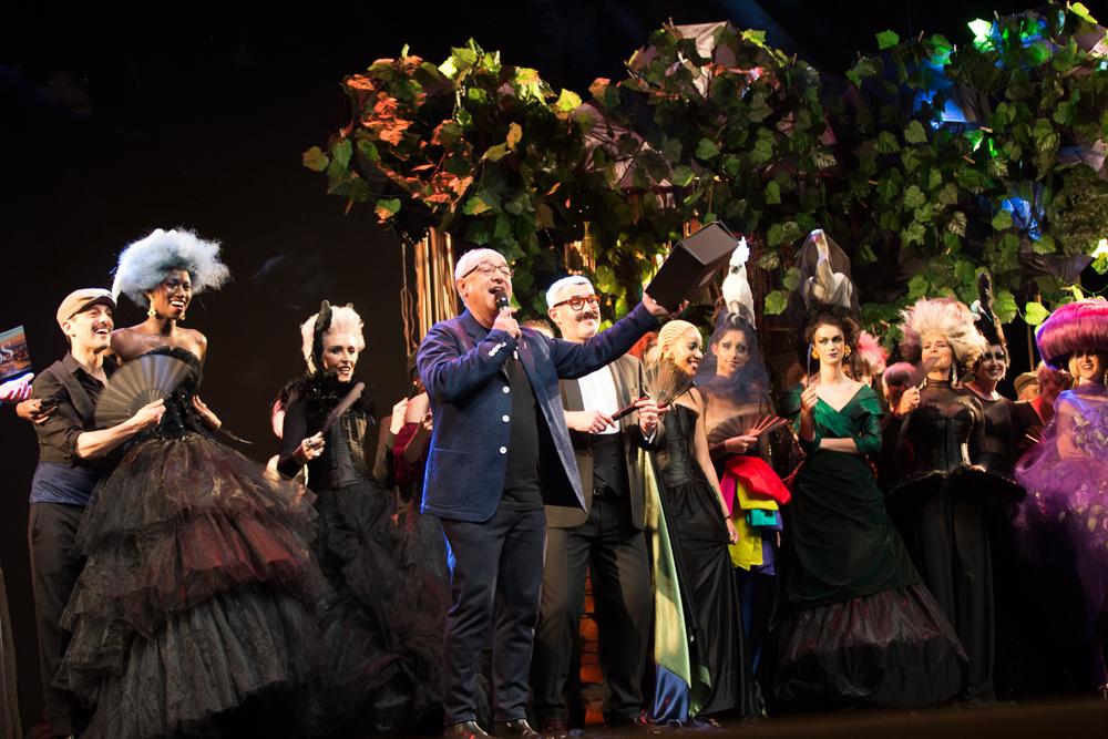 colección metamorfosis presentada en davines hair on stage lisboa