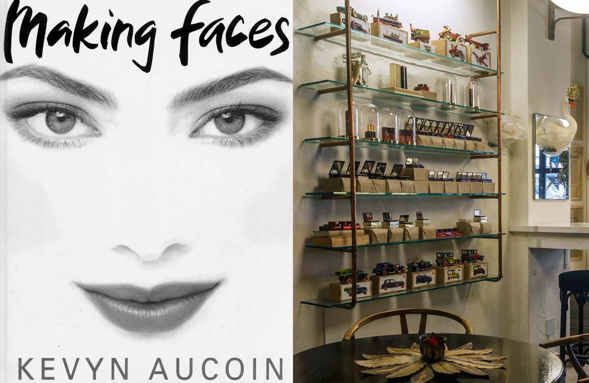 productos de maquillaje kevyn aucoin en el área de recepción del espacio isaac salido