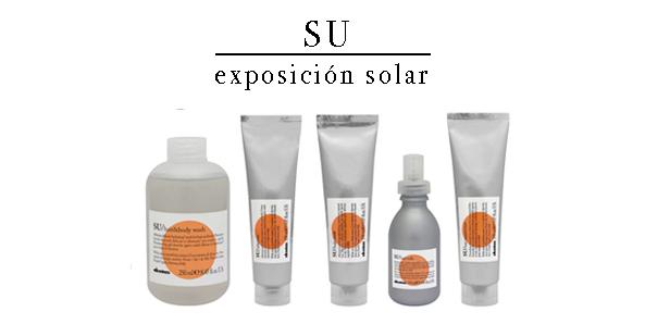 línea solar de champú, aftersun, mascarilla, potenciador del bronceado, su essential haircare